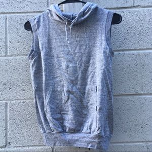 Vintage sleeveless hoodie